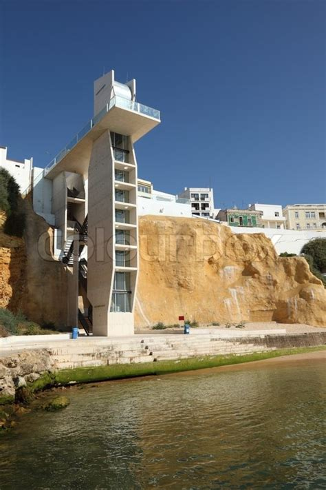 Elevator to the beach in Albufeira,