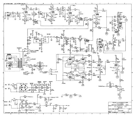 A schematic of the Peavey Classic 30 tube guitar amp, from