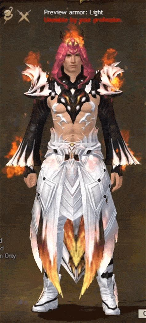 GW2 Remodeled Flamekissed Light Armor and Radiant Hellfire