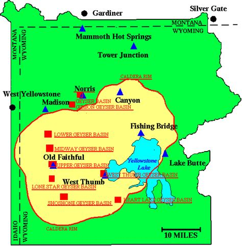 Geyser and Thermal Basin Maps