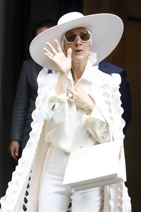 Celine Dion is a vision in white in Paris