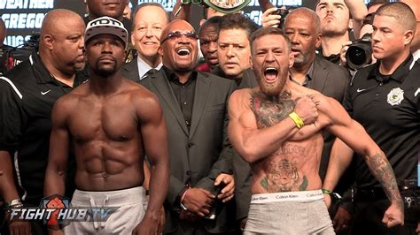FULL and UNCUT - FLOYD MAYWEATHER VS CONOR MCGREGOR WEIGH