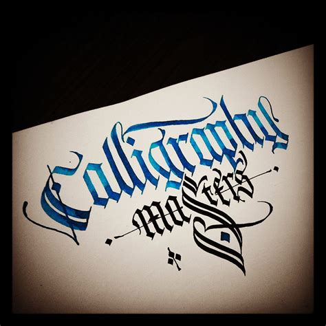 Gothic Calligraphy&Lettering with parallel pens and steel