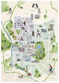 Madrid Map, Spain, illustrated map, travel guide madrid