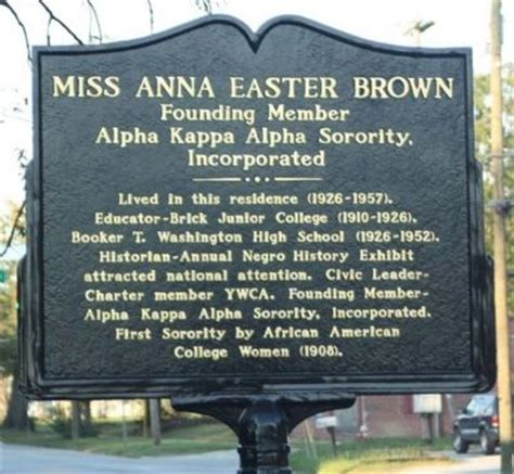 Miss Anna Easter Brown Historical Marker