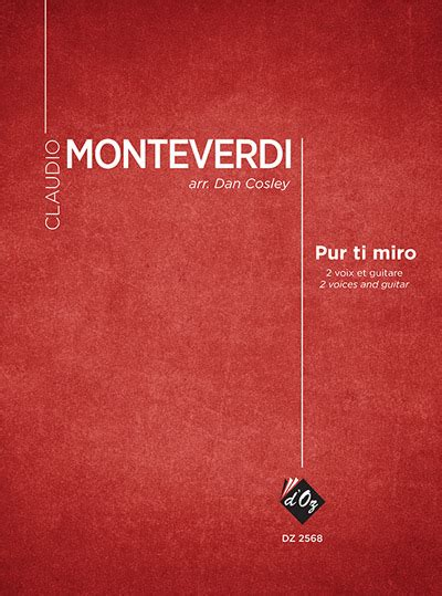 Pur ti miro by Claudio Monteverdi for 2 voices and guitar