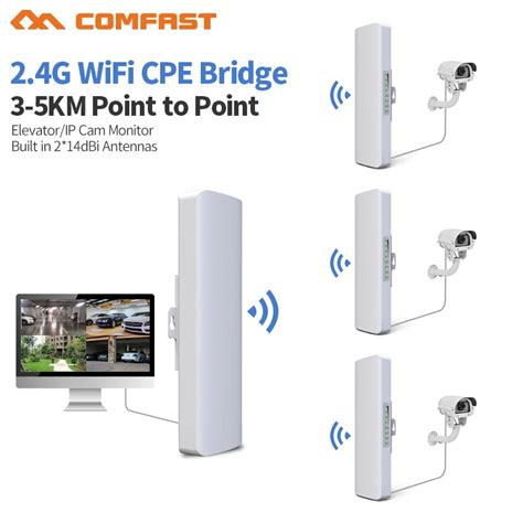 3 5km Long Distance 300Mbps Outdoor Wifi Router CPE 2