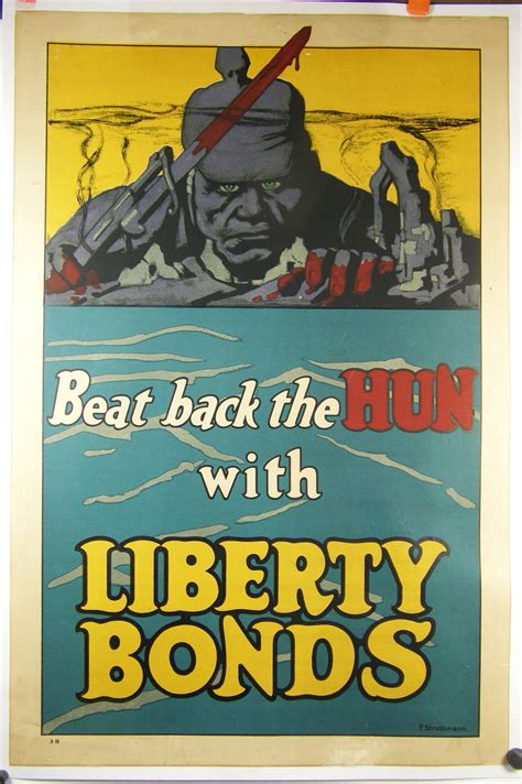 """WW1 Poster, """"Beat Back the Hun"""", by Frederick Strothmann"""
