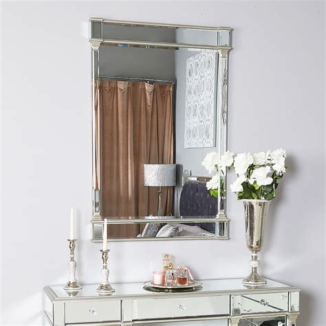 Athens Silver Rectangular Wall Mirror | Picture Perfect Home