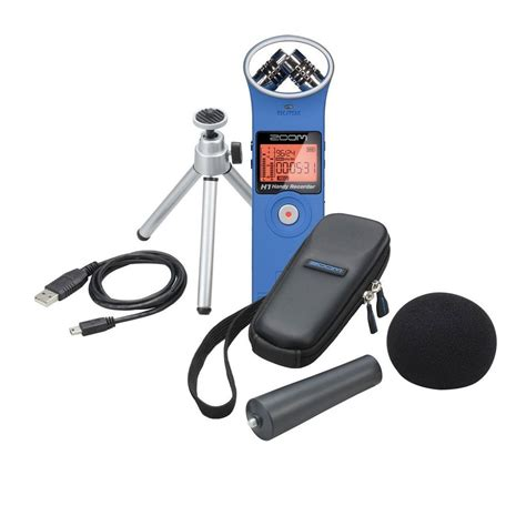 Zoom H1 Recorder with Accessory Pack, Blue at Gear4music