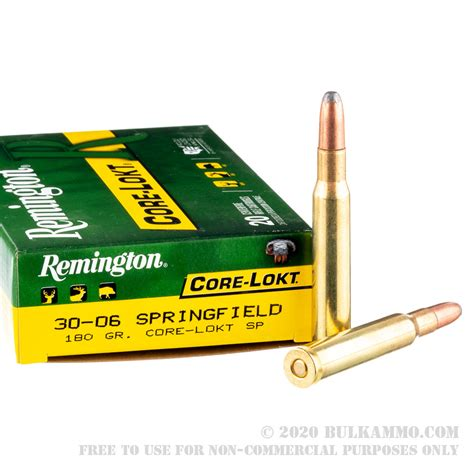 200 Rounds of Bulk 30-06 Springfield Ammo by Remington