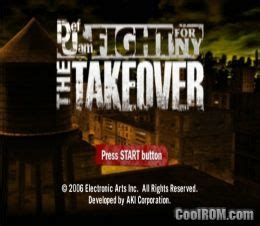 Def Jam - Fight for NY - The Takeover (Europe) ROM (ISO