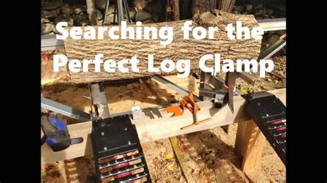 Homemade Log Clamps For My Logosol Farmers M8 - YouTube