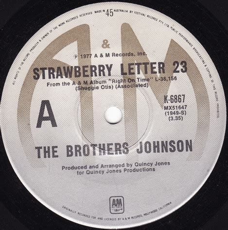 The Brothers Johnson* - Strawberry Letter 23 (1977, Vinyl