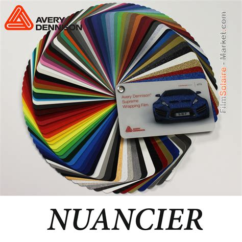 Swatches Avery Dennison Wrapping Film, 88 samples Vinyl
