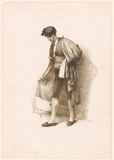 Mariano Fortuny   Portrait of a Matador   Drawings Online