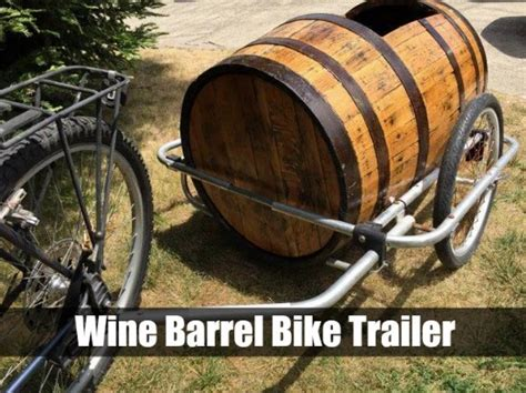 Port A Passenger With This Wine Barrel Bike Trailer