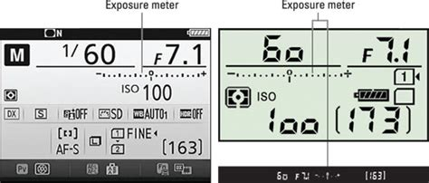 How to Read the Exposure Meter on the Nikon D7200 - dummies