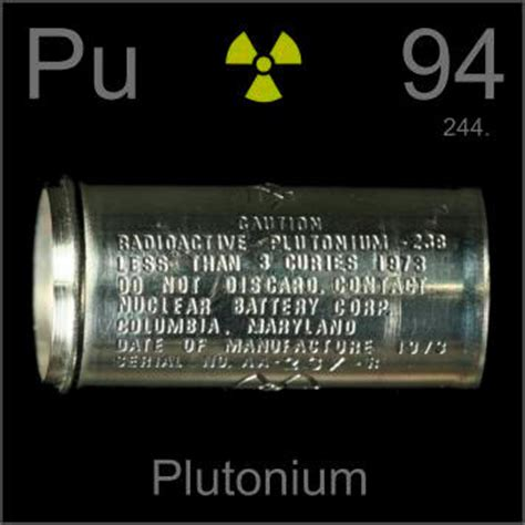 Pictures, stories, and facts about the element Plutonium