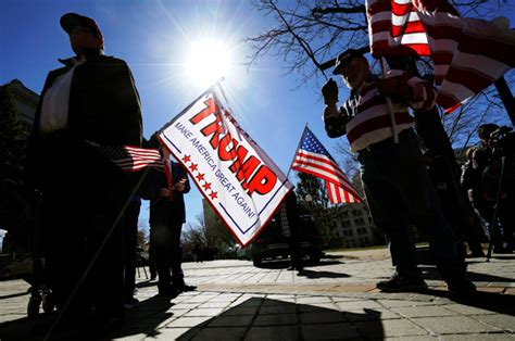 Photos from pro-Donald Trump rallies show sparse crowds